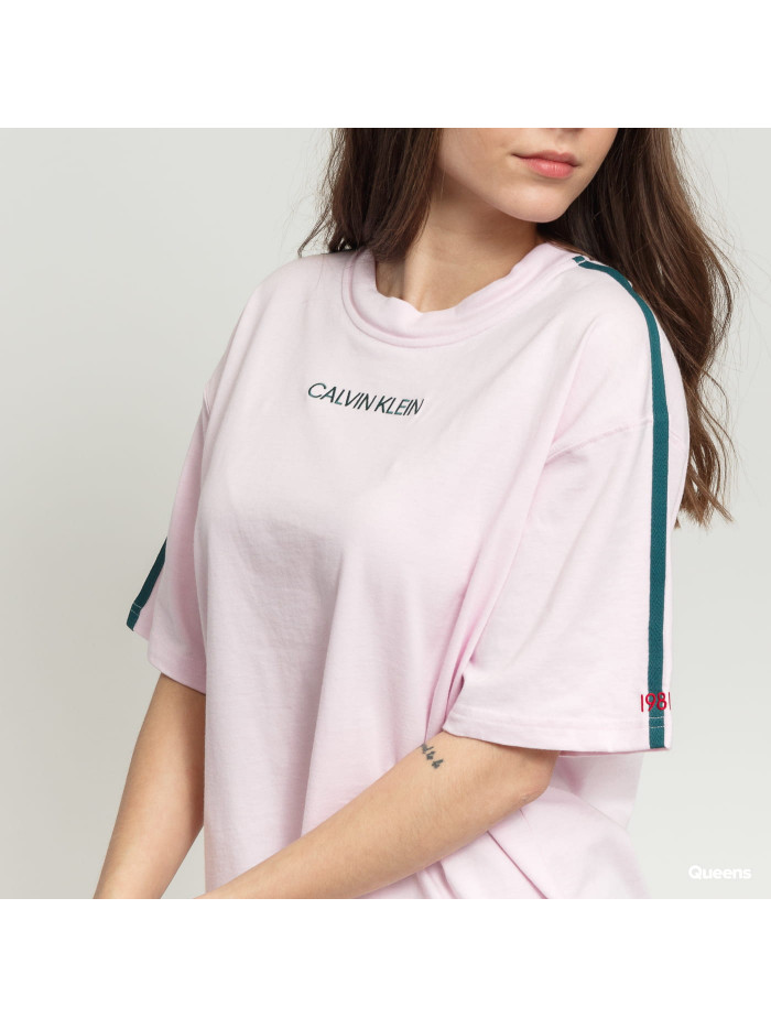 Dámske tričko Calvin Klein SS Crew Neck svetloružové