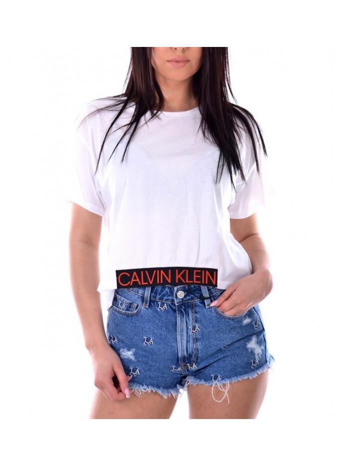 Dámske tričko Calvin Klein Cropped Tee biele