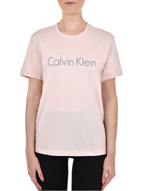 Dámske tričko Calvin Klein S/S Crew Neck svetlo-ružové