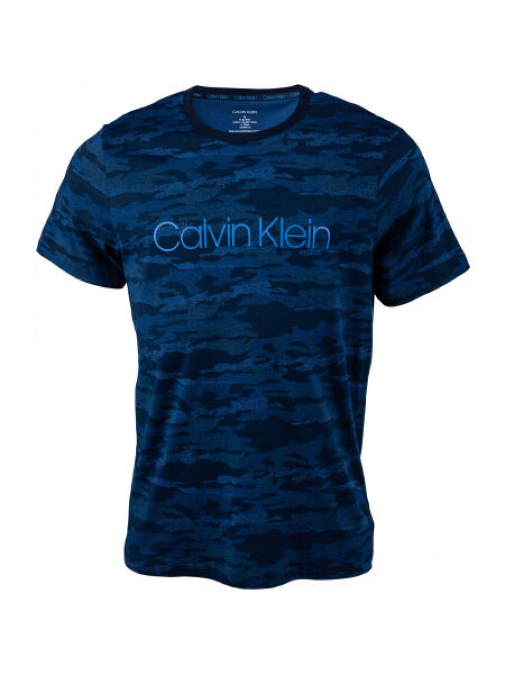 Pánske tričko Calvin Klein SS Crew Neck tmavomodré / maskáčové