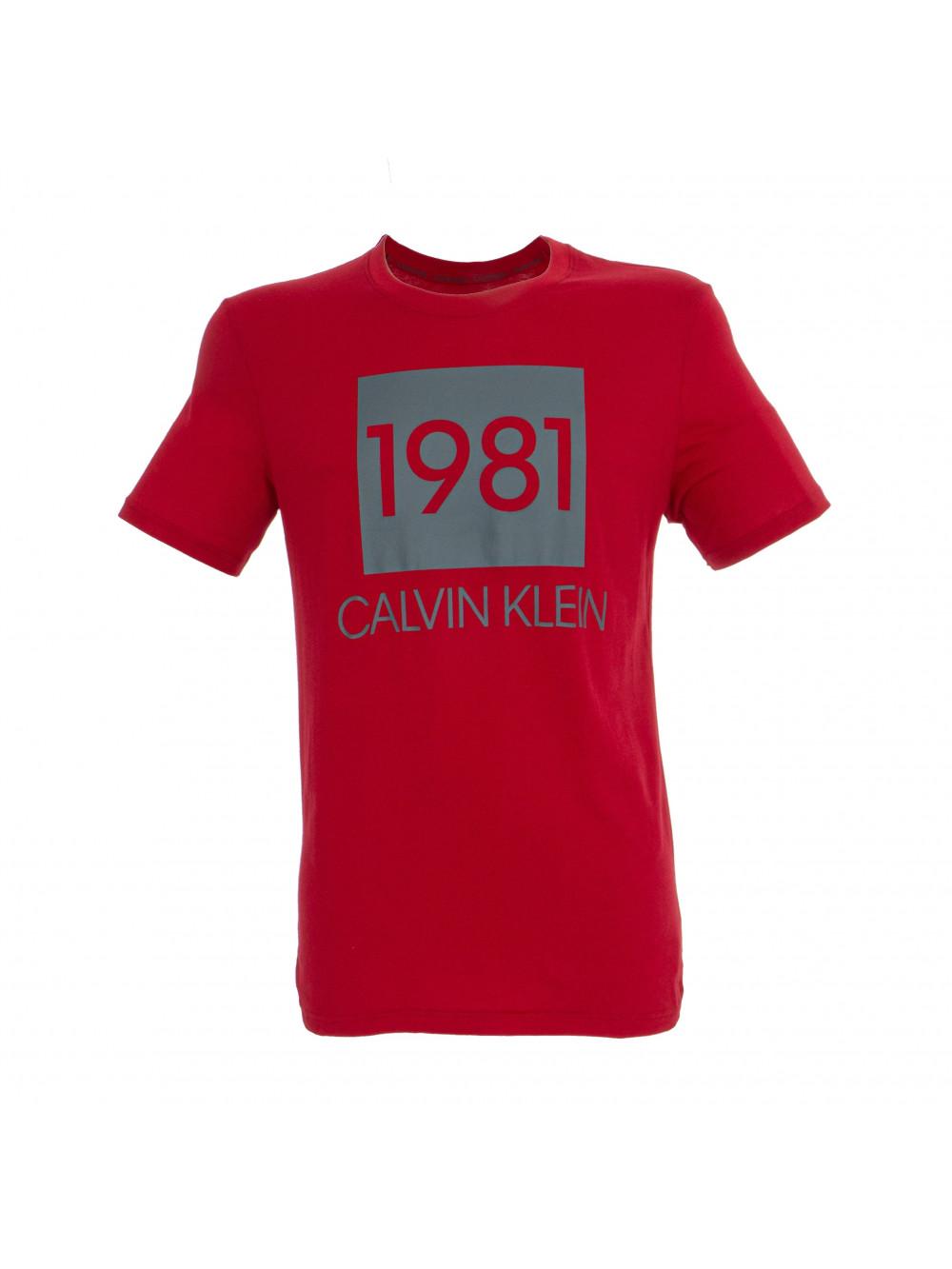 Pánske tričko Calvin Klein SS Crew Neck 1981 červené