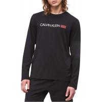 Pánske tričko Calvin Klein Crew Neck 1981 čierne