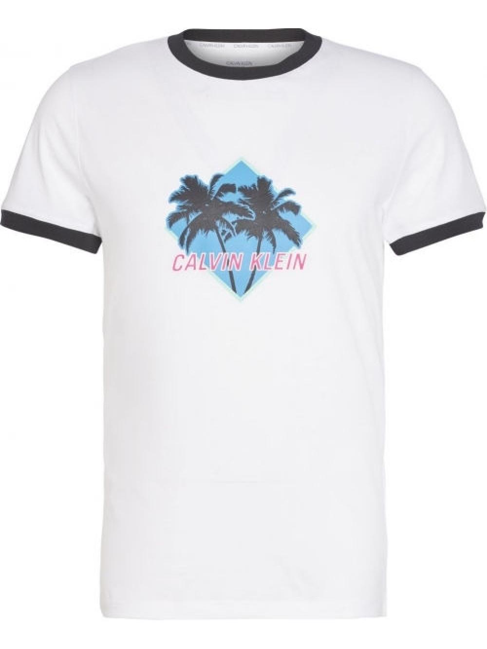 Pánske tričko Calvin Klein Relaxed Retro biele
