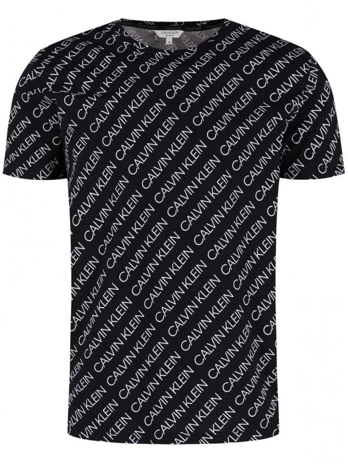 Pánske tričko Calvin Klein Logo Print čierne