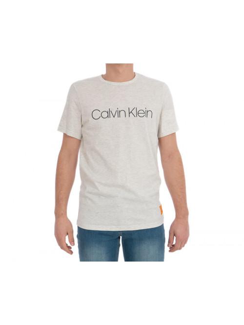 Pánske tričko Calvin Klein SS Crew Neck béžové