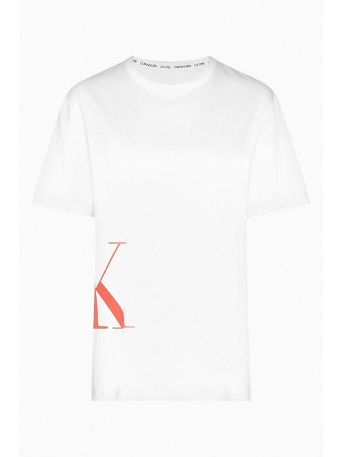 Pánske tričko Calvin Klein SS Crew Neck Logo biele