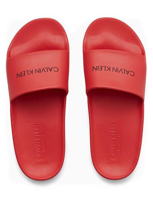 Dámske šľapky Calvin Klein One Mold Slide červené