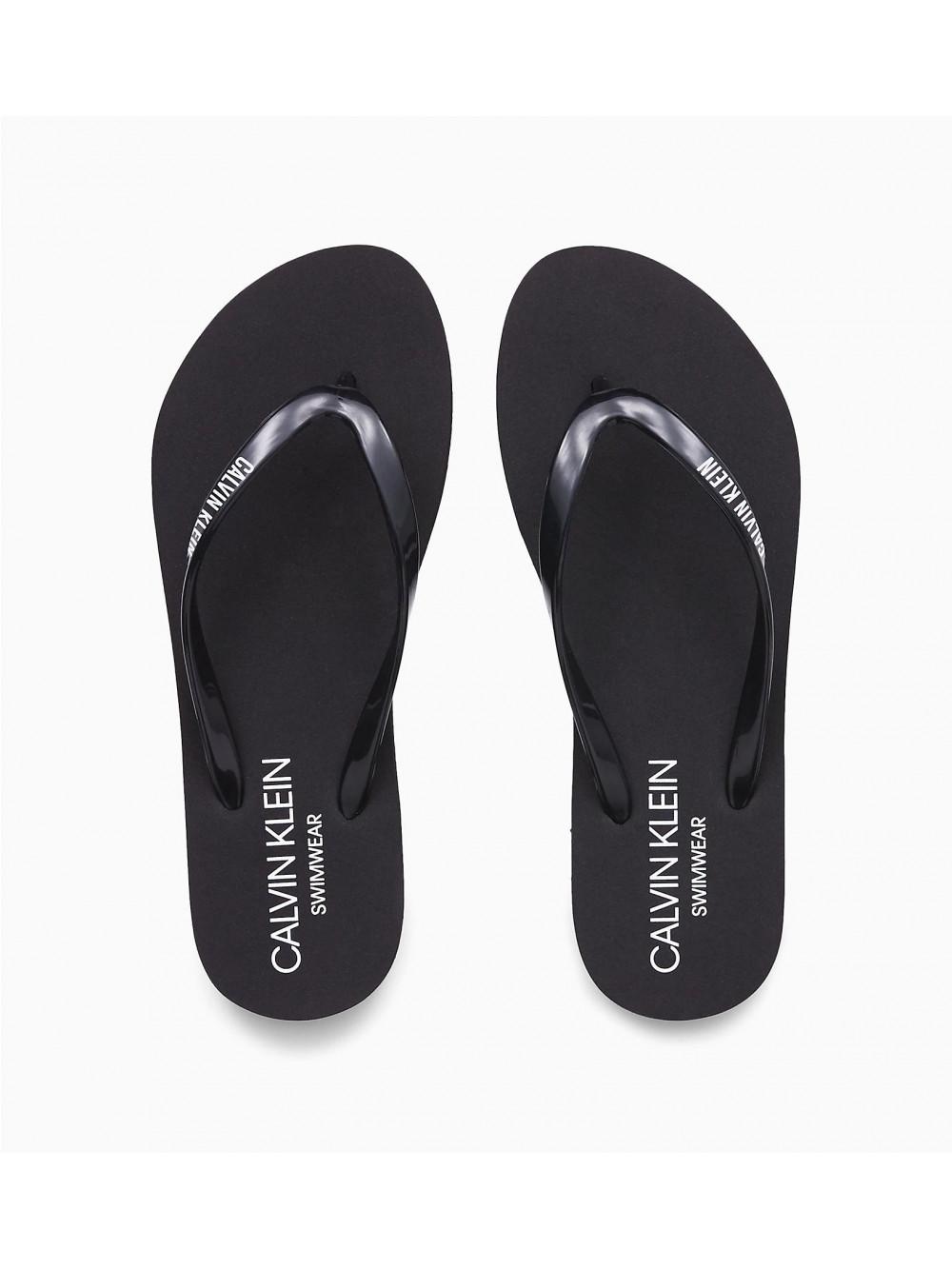 Dámske žabky Calvin Klein Swimwear čierne