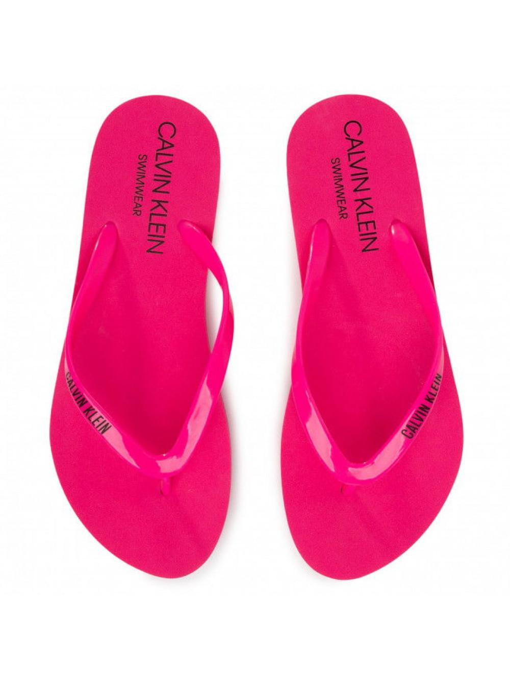 Dámske žabky Calvin Klein Swimwear ružové