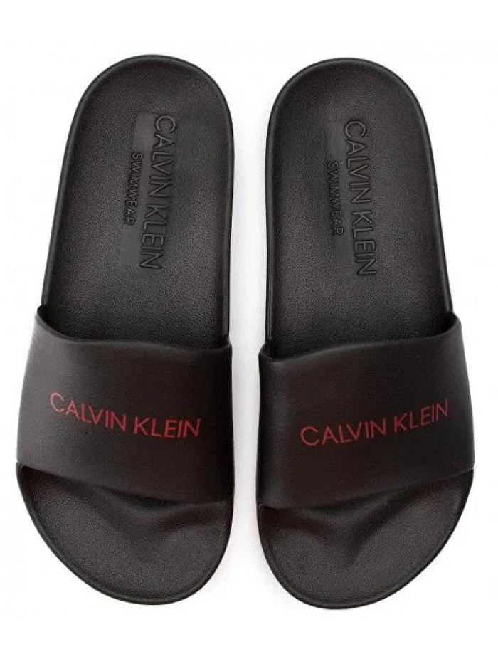Pánske šľapky Calvin Klein Slide čierne