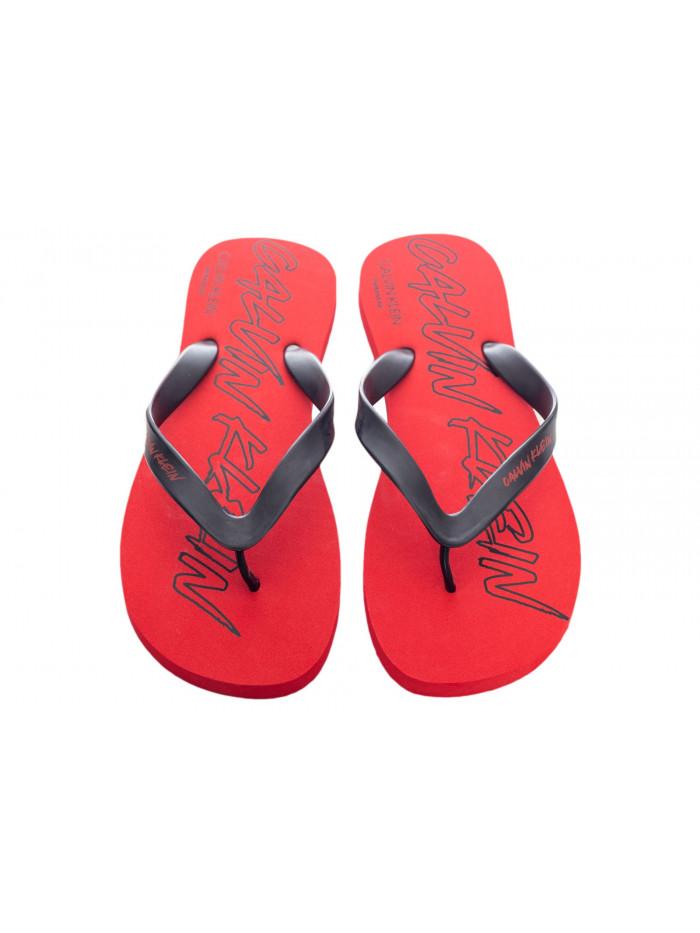 Pánske žabky Calvin Klein Risk Red červené