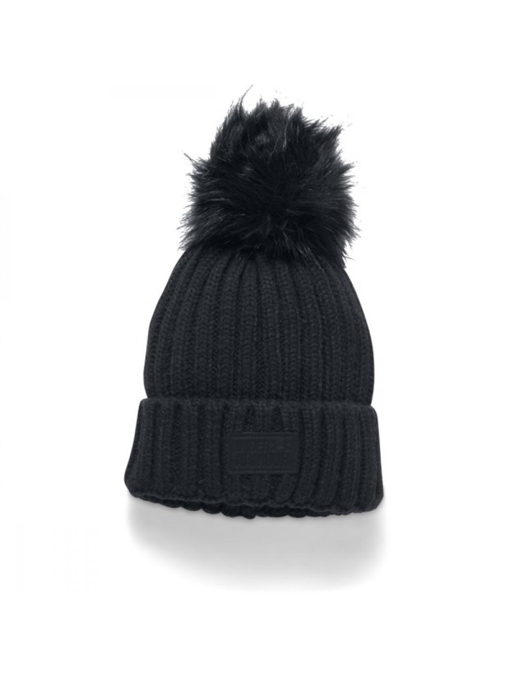 Dámska čiapka Under Armour Snowcrest Pom Beanie čierna