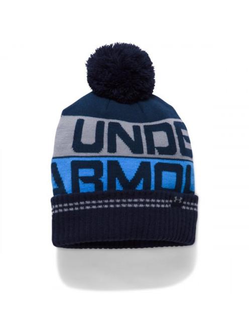 Pánska čiapka Under Armour Retro Pom Beanie modrá