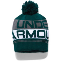 Pánska čiapka Under Armour Retro Pom Beanie zelená