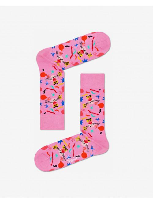 Ponožky Happy Socks Pink Panther Bomb Voyage ružové
