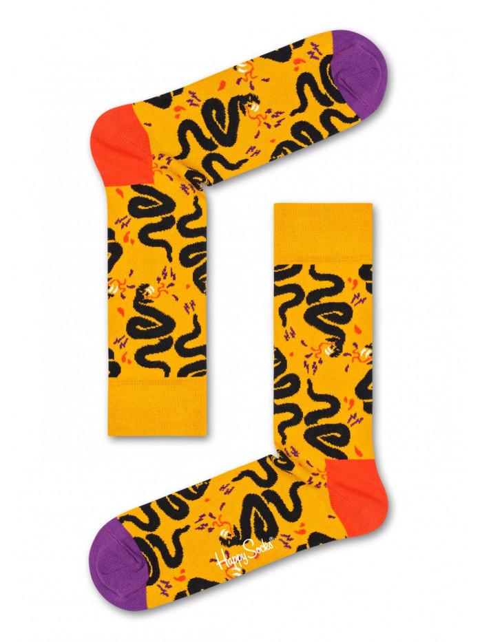 Ponožky Happy Socks Snake žlté