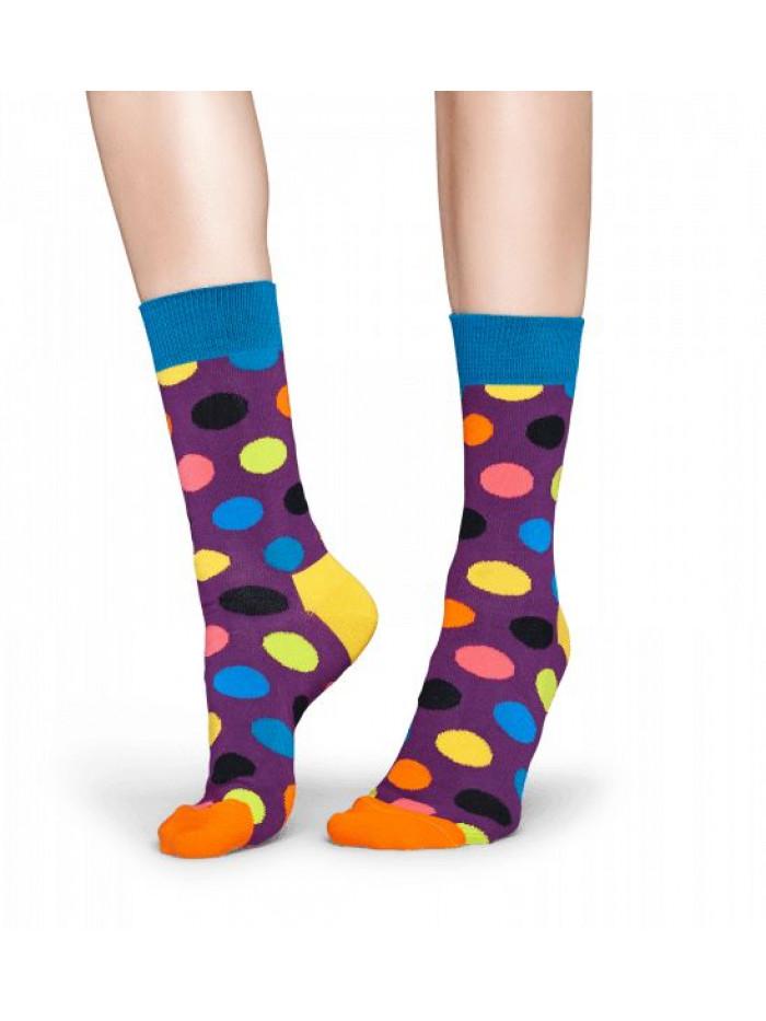 Ponožky Happy Socks Big Dot Colorfull - fialové