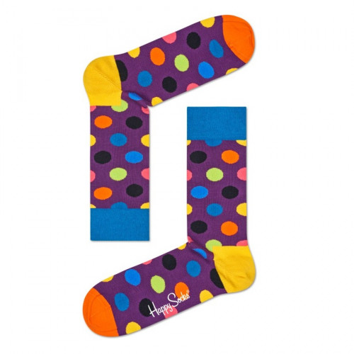 Ponožky Happy Socks Big Dot Colorfull - fialové