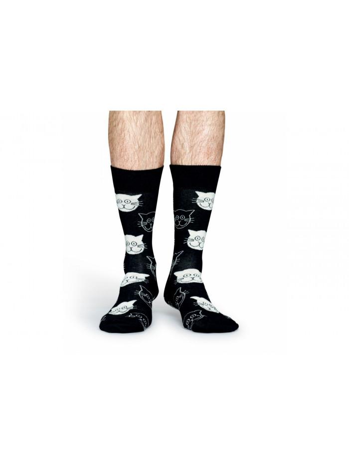 Ponožky Happy Socks Cat - čierne