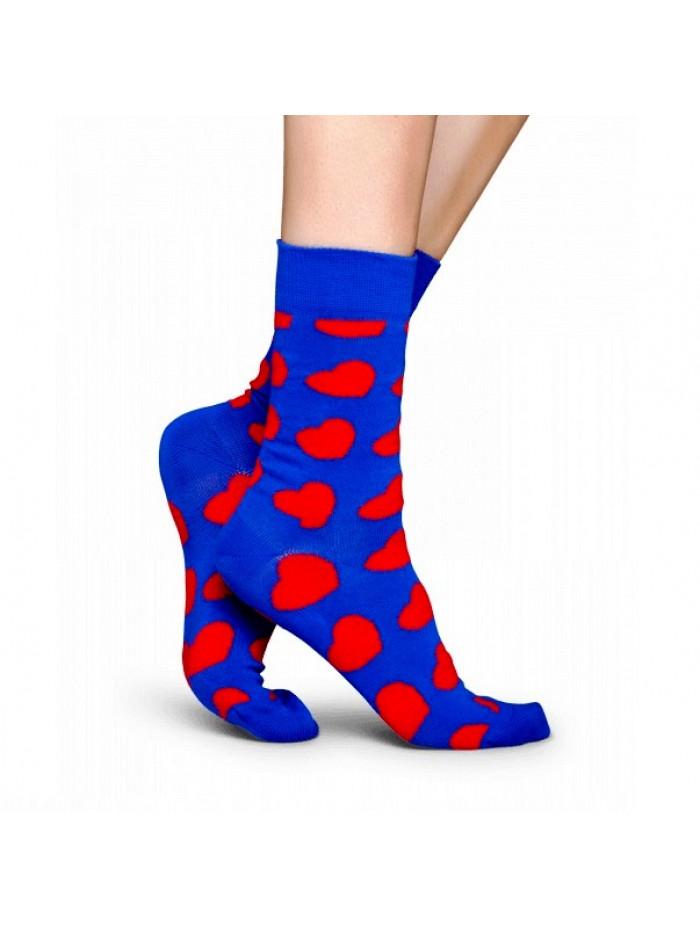 Ponožky Happy Socks Diagonal Heart - modré