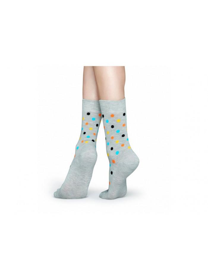 Ponožky Happy Socks Dot Color - sivé