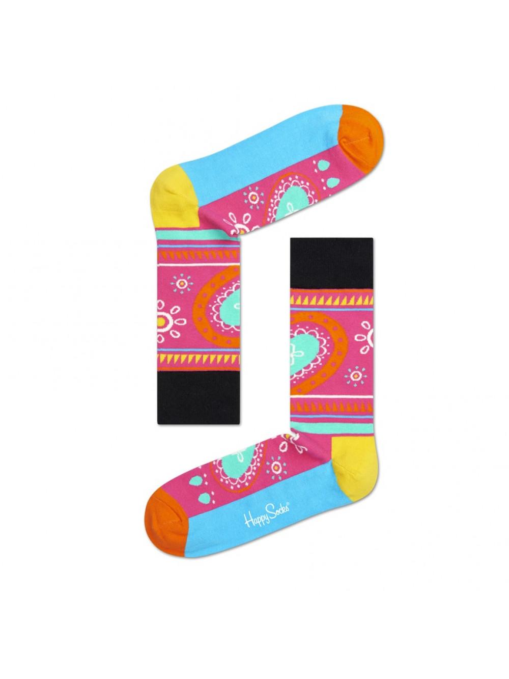 Ponožky Happy Socks Hippie - ružové