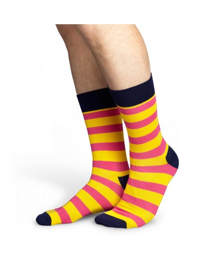 Ponožky Happy Socks Stripe - žlto-ružové