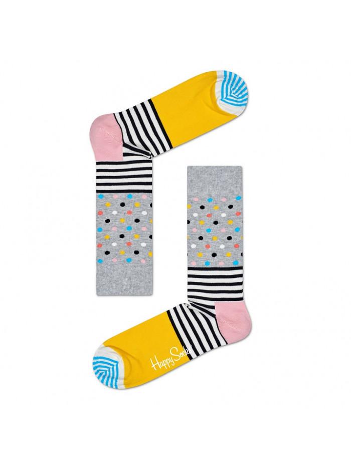 Ponožky Happy Socks Stripe Dot Color - sivé