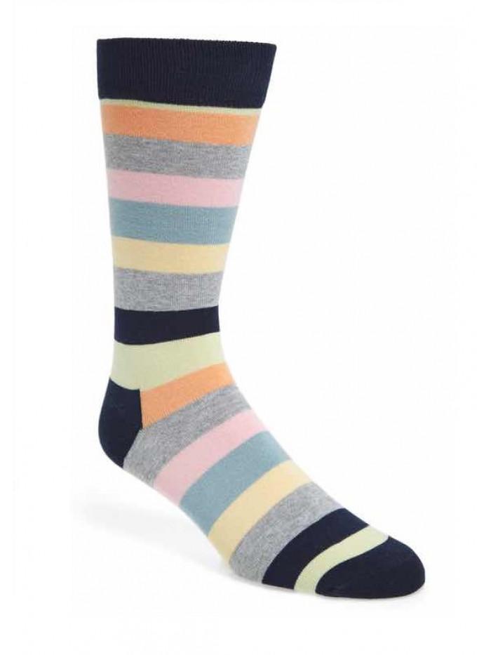 Ponožky Happy Socks Stripe - sivé