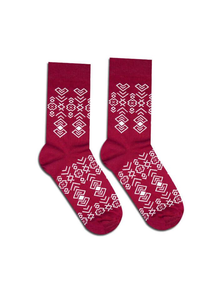 Ponožky Čičman bordový