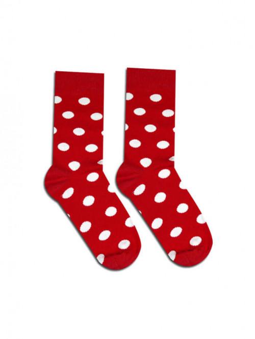 Ponožky Bodky Kakavko červené