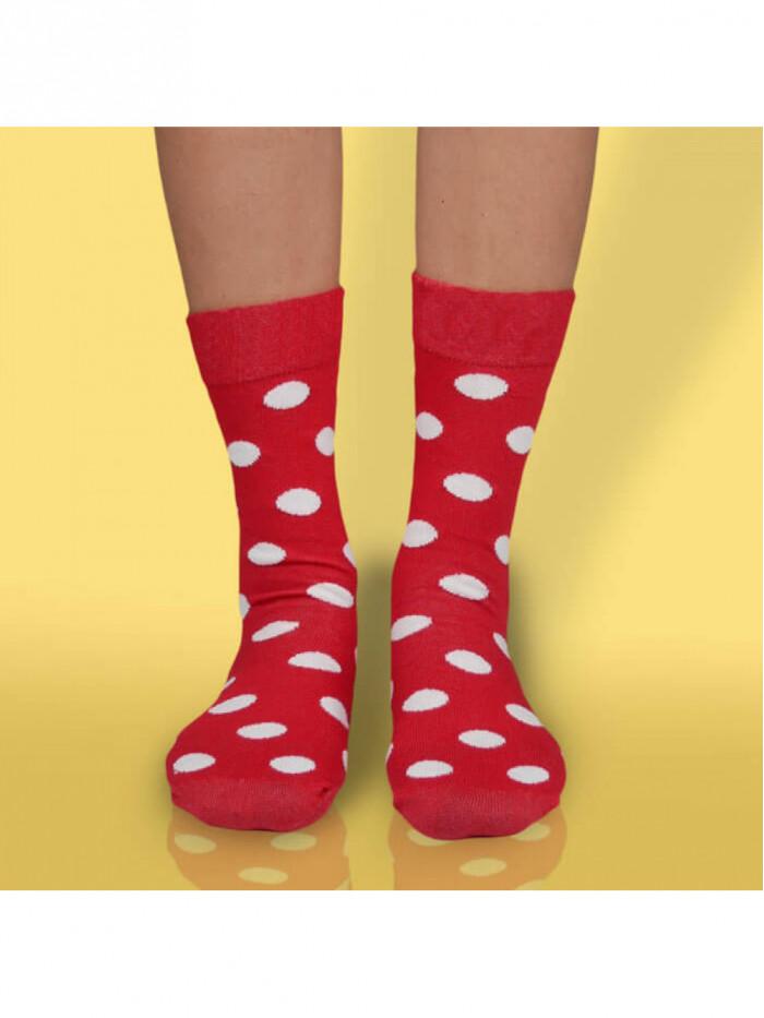 Ponožky Bodky Kakavko Hesty Socks červené