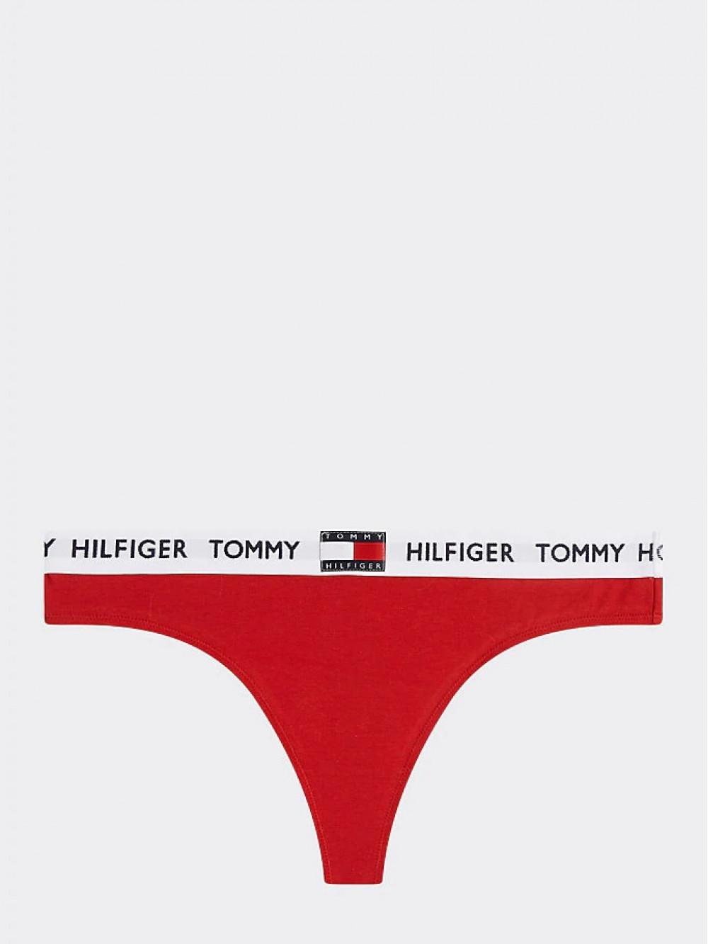 Dámske tangá Tommy Hilfiger Organic Cotton Logo červené