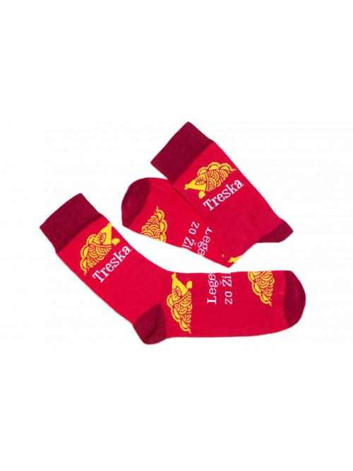 Ponožky Funnysox Treska červené