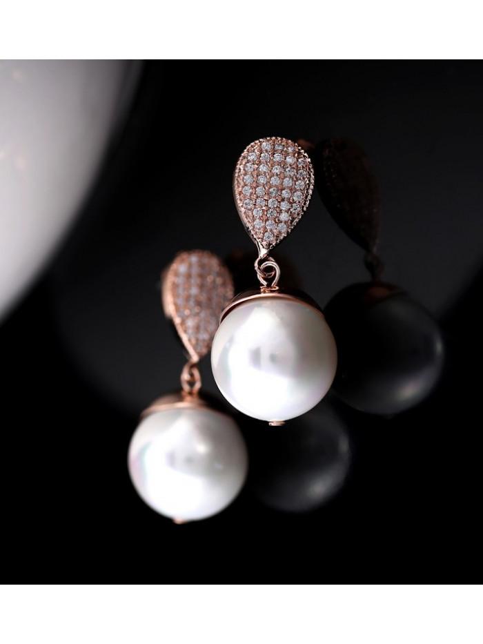 Náušnice Kúzelná perla bronzové