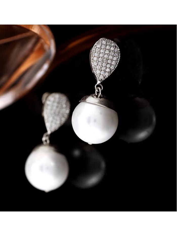 Náušnice Kúzelná perla strieborné