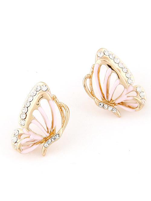 Náušnice Motýľ ružové