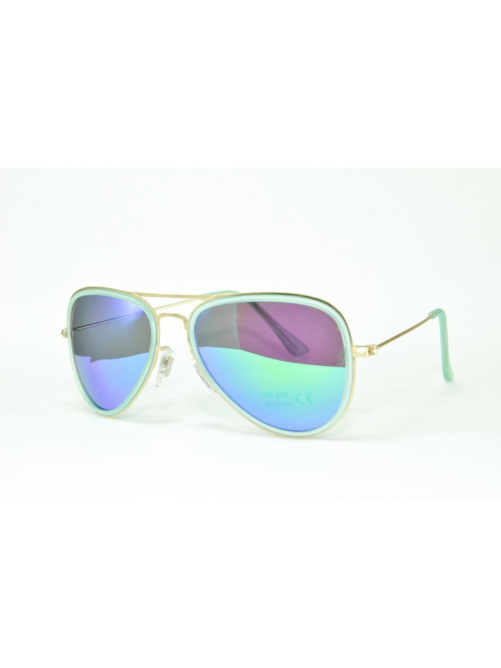 Slnečné okuliare Aviator Pilot XS green