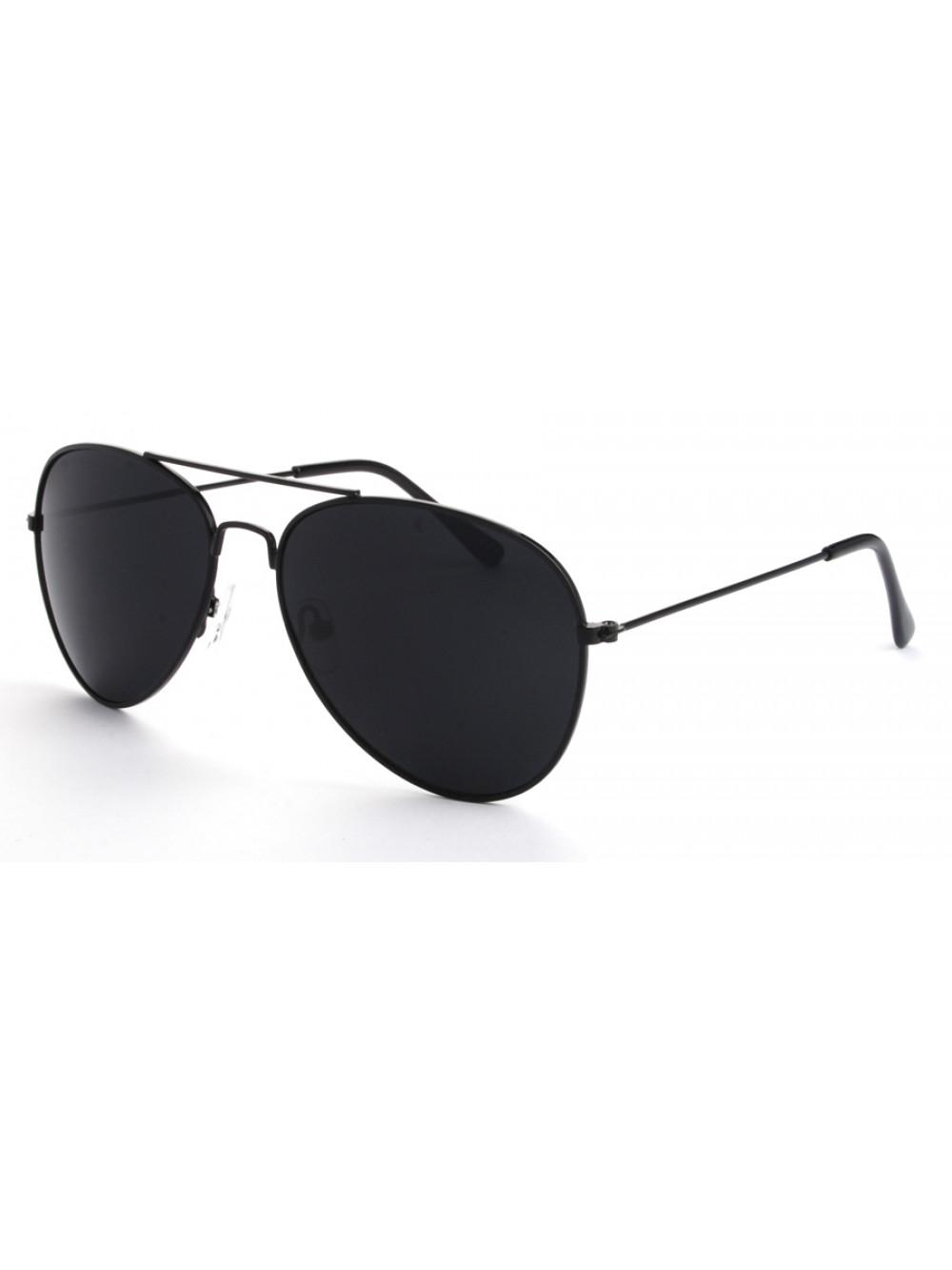 8420f9056 Slnečné okuliare Aviator Pilot Black čierne