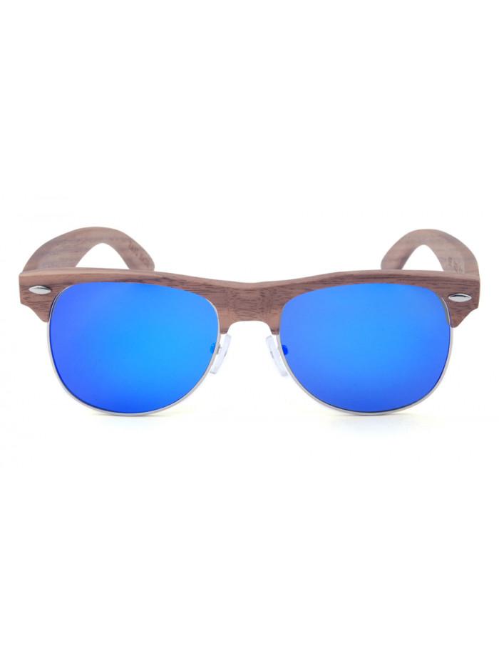 Drevené slnečné okuliare Clubmaster Sky