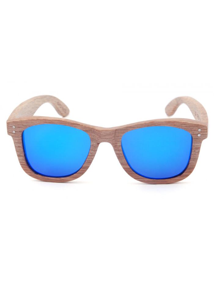 Drevené slnečné okuliare Simple Blue