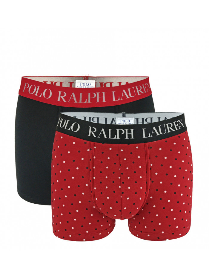 Pánske boxerky Polo Ralph Lauren Classic Trunk Stretch Cotton 2-pack čierne, červené