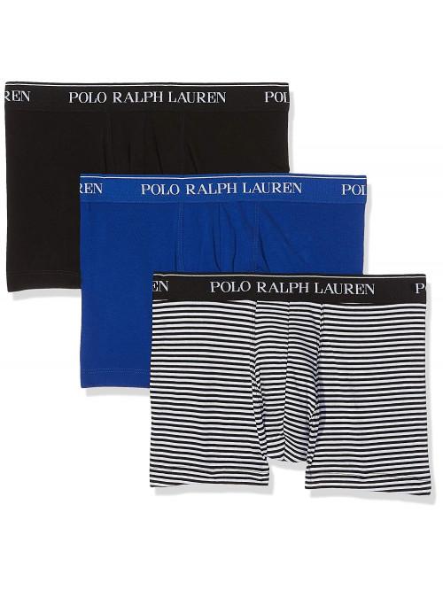 Pánske boxerky Polo Ralph Lauren Classic Trunk Stretch Cotton 3-pack čierne, modré, čierno-biele