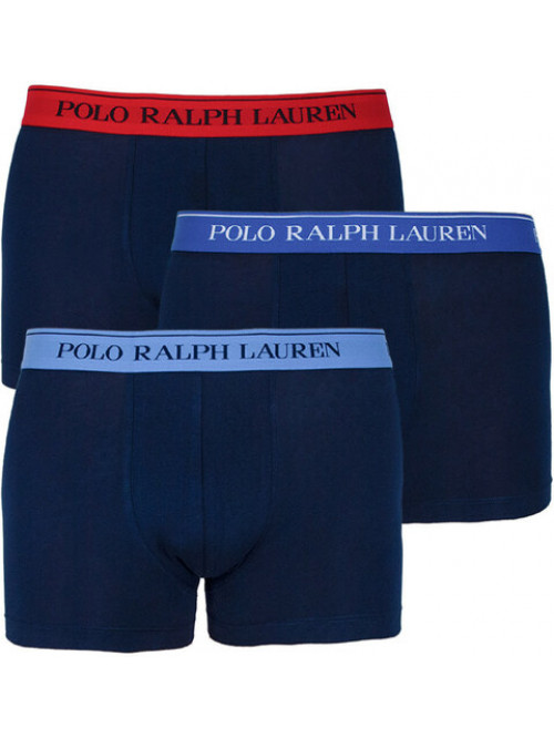 Pánske boxerky Polo Ralph Lauren Classic Trunk Stretch Cotton 3-pack tmavomodré