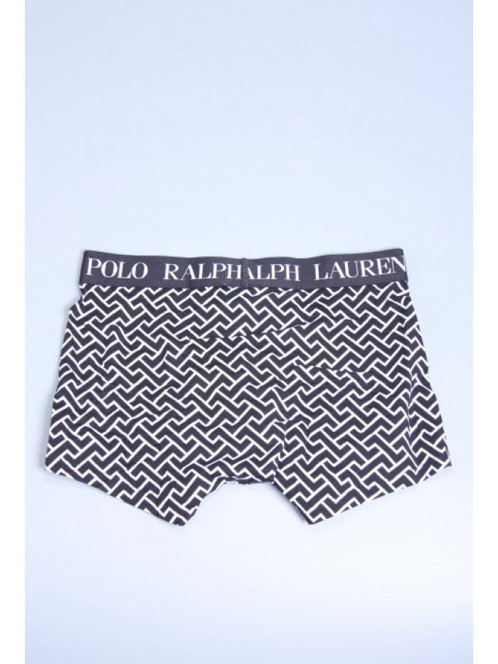 Pánske boxerky Polo Ralph Lauren Black Deco Link Geometric Print čierne