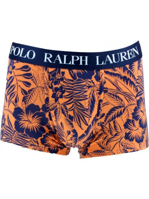 Pánske boxerky Polo Ralph Lauren Classic Trunk Tropical Print Sun oranžové