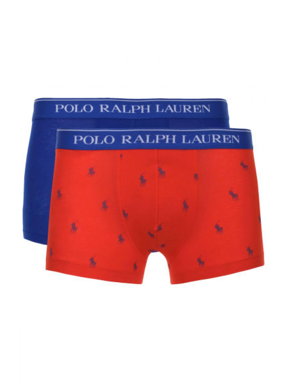 Pánske boxerky Polo Ralph Lauren Classic Trunk Stretch Cotton 2-pack modré, červené