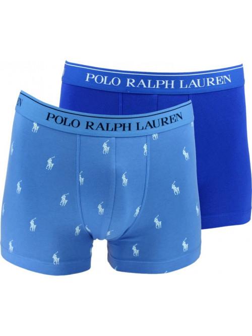 Pánske boxerky Polo Ralph Lauren Classic Trunk Stretch Cotton 2-pack tmavomodré a svetlomodré