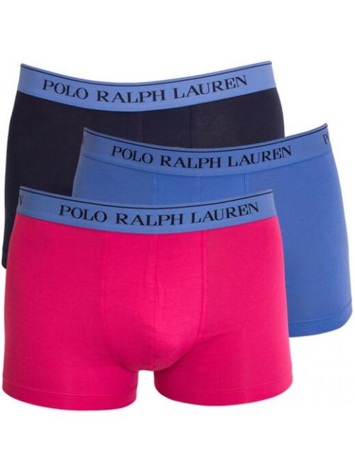 Pánske boxerky Polo Ralph Lauren Classic Trunk Stretch Cotton 3-pack čierne, modré, ružové