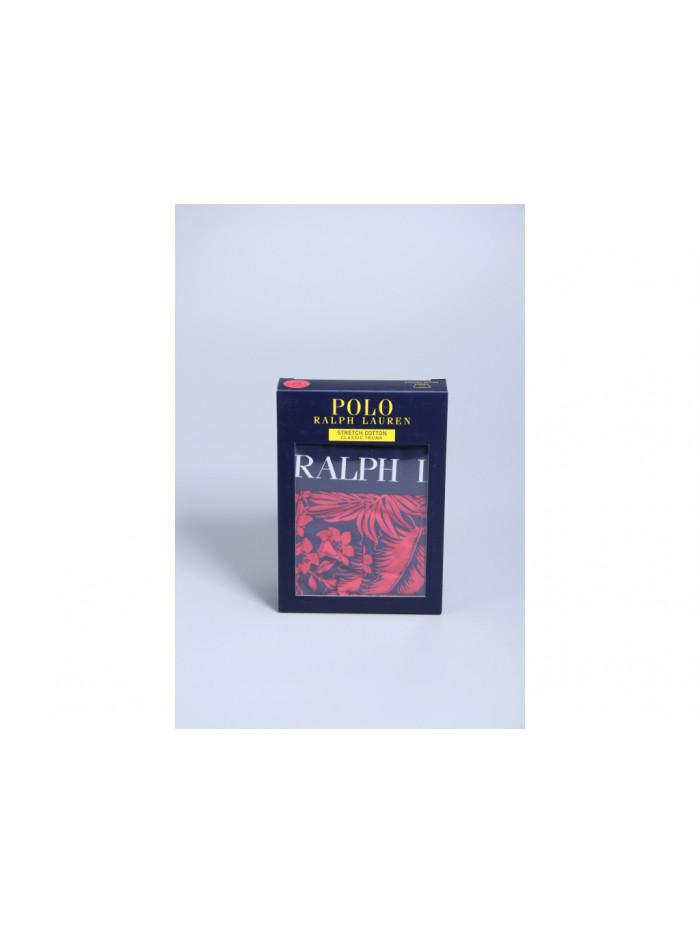 Pánske boxerky Polo Ralph Lauren Classic Trunk Tropical Print Sunrise červené